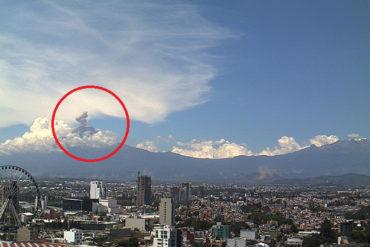 ¡ÚLTIMA HORA! El volcán Popocatépelt hizo erupción tras violento sismo en México
