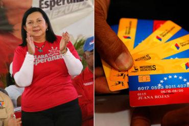¡LA COMPRA VOTOS ROJITA! Carmen Meléndez cierra campaña en Lara repartiendo libretas de ahorro y tarjetas