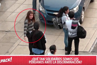 """¡GENIAL! Insultan a una venezolana en Perú como """"experimento"""" y la reacción fue inesperada (+Video)"""