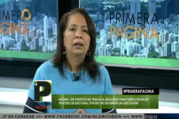 ¡DICE ELLA! Ilenia Medina: Los opositores no tienen la motivación para ir a votar (+Video)