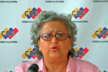 ¡ENTÉRESE! Presidenta del CNE: El país no está preparado para hacer elecciones conjuntas (Video)