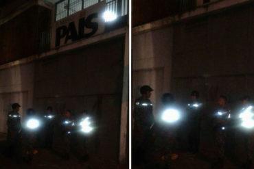 ¡IMPERDONABLE! Colectivos toman la sede del diario El Nuevo País y Zeta en el centro de Caracas (+Fotos +Tuits)