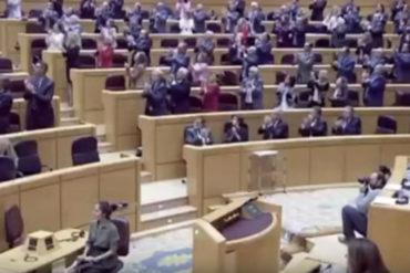 ¡NO DEJE DE VERLO! Antonio Ledezma fue ovacionado de pie en el Congreso de España (+Video)
