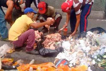 ¡LAMENTABLE! Tuitero aplaude de pie el valor de los venezolanos que comen de la basura a causa de la crisis (+Video)