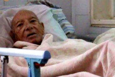 ¡DEGARRADOR! Anciano de 85 años ha perdido más de 20 kilos en sus primeros tres meses en el hospital (está preocupado por Venezuela)