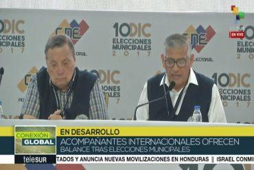 ¡LO ÚLTIMO! Acompañantes internacionales aseguran que no hubo ventajismo en elecciones municipales
