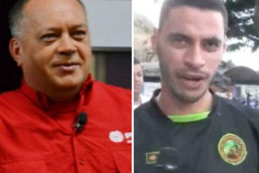 ¡TREMENDO CUENTO! Así justificó Diosdado Cabello la presencia de colectivo en la operación contra Óscar Pérez