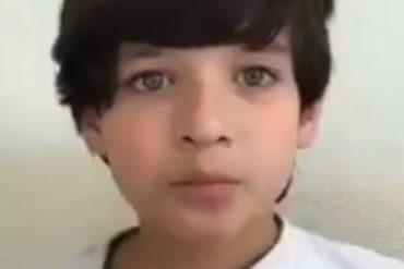 ¡ACLARANDO! Niño desmiente ser hijo de Óscar Pérez tras video que circuló en redes