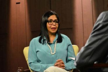 ¡QUÉ INSULTO!  Delcy Rodríguez dice que Oscar López Rivera sí fue un preso de conciencia, a diferencia de Leopoldo López