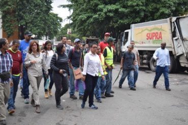 ¿QUIÉN LE CREE? Erika Farías se comprometió a mantener sin basura a Caracas