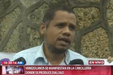 ¡LO ÚLTIMO! Venezolanos en Dominicana se manifestaron en la Cancillería donde se realiza diálogo (+Video)