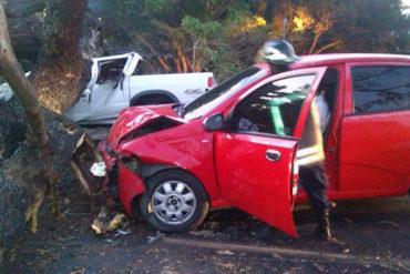 ¡SEPA! Reportan tres lesionados este #27Feb por caída de árbol en tramo Carabobo de la ARC