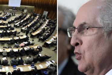 ¡ACTIVO EL HOMBRE! Ledezma se reunirá con miembros  de la ONU para denunciar violaciones de DD HH en Venezuela (+Video)