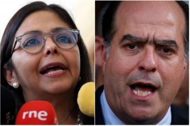 ¡LE LANZÓ! Delcy Rodríguez retó a Julio Borges para que regrese a Venezuela (+Video)
