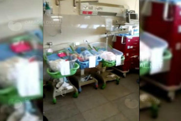 ¡INHUMANO! Esta es la minúscula habitación donde reciben a los recién nacidos en el hospital Domingo Luciani (+Video)
