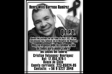 ¡LAMENTABLE! Asesinaron a puñaladas a venezolano que intentó frustrar un atraco en Chile