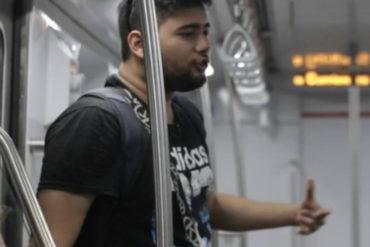 """¡SE ESFORZÓ! El rapero venezolano que ahorró para mudar a su familia para Argentina cantando en el """"subte"""""""