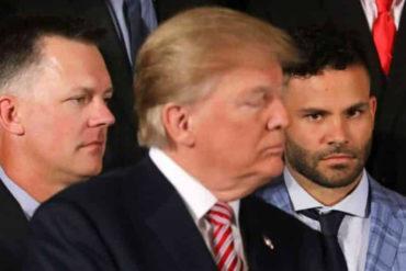 """¡<I>STOP</I> A LOS RUMORES! Altuve aclaró el porqué de sus """"caras"""" ante discurso de Donald Trump"""