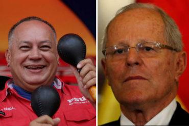 ¡SARCASMO A MILLÓN! Diosdado Cabello se pronunció por renuncia de Pedro Pablo Kuczynski a la presidencia de Perú