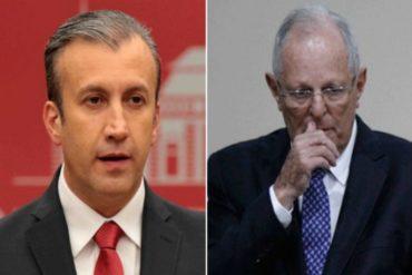 ¡QUÉ ABUSO! Tareck El Aissami insultó al presidente de Perú a través de Twitter (lo llamó ridículo)