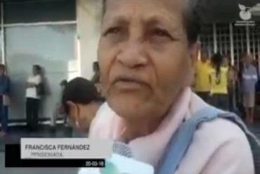 """¡DUELE MUCHO! """"El hambre nos está matando"""": el estremecedor mensaje de una abuela durante el plan piloto de la Sudeban (+Video)"""