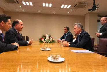 ¡SIGUE EN GIRA! Borges se reunió con Macri para hablar sobre la crisis en Venezuela (+Fotos)