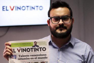 ¡VÉALO! Este es El Vinotinto, el periódico de la diáspora venezolana en Chile (+Foto)