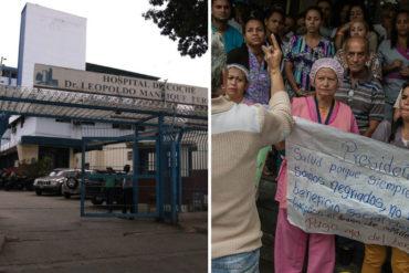 ¡PROTESTARON! Trabajadores del Hospital de Coche exigieron mejoras salariales este #12Mar (+Video)