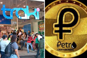 """¡SOLO EN VENEZUELA! Aseguran que Traki acepta Petros """"como método de pago"""" (+Fotos)"""