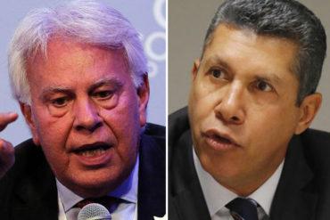 """¡DE FRENTE! Expresidente de España Felipe González pide a Henri Falcón evitar ser el """"taparrabos"""" de Maduro"""