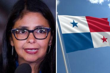 """¡HISTÉRICA! La pataleta de Delcy Eloína por sanciones de Panamá: """"Son agresiones que respondemos con legalidad"""""""
