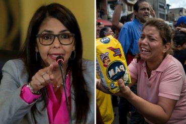 """¡QUÉ CARA DE TABLA! El descaradísimo tuit de Delcy Eloína en relación a la soberanía y """"felicidad"""" de los venezolanos (+Tuit)"""