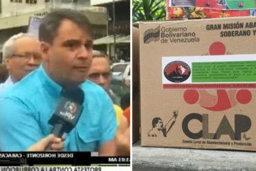 ¡ENTÉRESE! Concejal del municipio Libertador denunció que el gobierno da cajas CLAP a comunidades que han protestado por agua