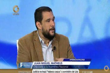 """¡ENTÉRESE! Juan Miguel Matheus llama a no votar en las presidenciales """"por el rescate de la democracia"""""""