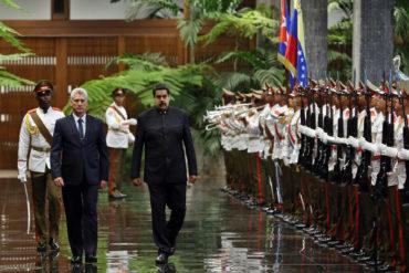 ¡VEÁLOS! Así recibió Díaz-Canel a Maduro en el Palacio de la Revolución en Cuba (+Fotos)