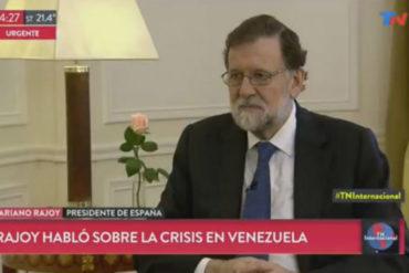 """¡VEA! Al régimen de Maduro """"le trae sin cuidado"""" la diáspora venezolana, dice Rajoy (+Video)"""