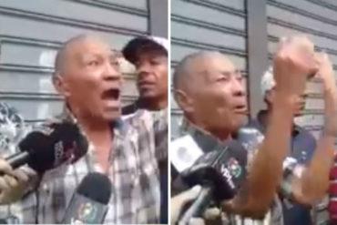 ¡DOLOROSO! El contundente testimonio de un abuelo en las afueras de la Cruz Roja (+Video)
