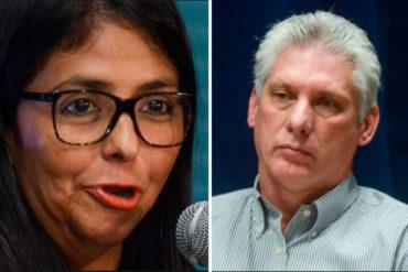 """¿FUE EL SUBCONSCIENTE? Delcy Rodríguez llamó """"germen"""" a Díaz-Canel en plena sesión de la ANC (+Video)"""