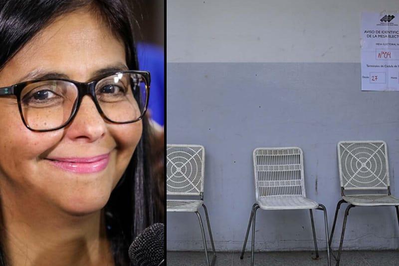¡SE PASÓ! Delcy Rodríguez dijo que no cerrarían aun los centros por aun