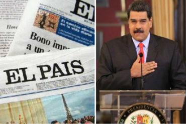 ¿CUÁNTO HABRÁ PAGADO? El artículo de Maduro en el País de España que revienta de ira (niega toda la crisis)