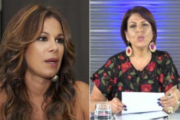 ¡CANDELOSO! Así fue la disputa entre Patricia Poleo y Giselle Reyes por la polémica en el Miss Venezuela (+Video)