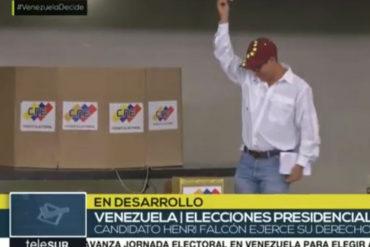 ¡LO ÚLTIMO! Henri Falcón votó en Lara: No es hora de quedarse de brazos cruzados (+denuncia de puntos rojos y voto asistido)