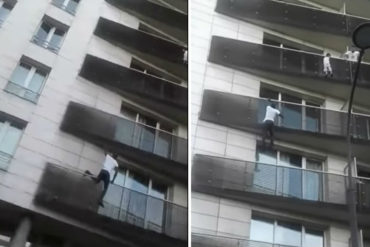 """¡INCREÍBLE! """"Hombre Araña"""" escala edificio para salvar a niño en París (+Video impactante)"""