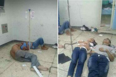 ¡INHUMANO! Aseguran que pacientes del Hospital Central de Maracay son atendidos en el suelo (+Fotos)