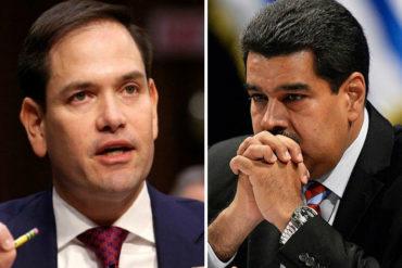 ¡DE FRENTE! Rubio sobre llamado al diálogo de Maduro a Trump: Lo único que hay que discutir es su salida inmediata
