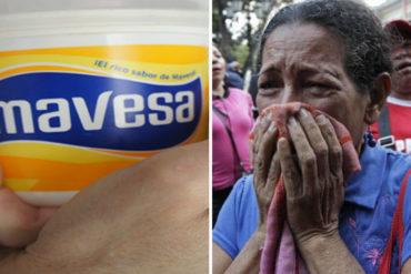 ¡PARA LLORAR! El escandaloso precio de una mantequilla Mavesa que se lleva por los cachos el nuevo aumento de Maduro (+Foto)