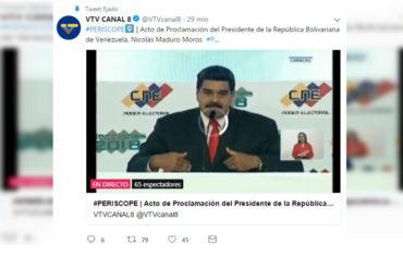 """¿Y SU PUEBLO? Esta es la penosa cantidad de personas que vio la """"proclamación"""" de Maduro (+prueba)"""