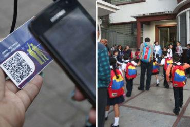 ¡EL COLMO! Denuncian que piden el carnet de la patria para inscribir a alumnos en escuelas públicas