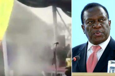 ¡LO ÚLTIMO! Presidente de Zimbabue es víctima de una fuerte explosión en pleno mitin (+Video + salió ileso)