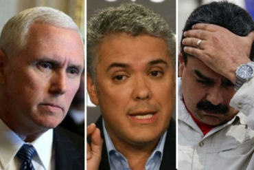 ¡TOMA! Mike Pence e Iván Duque se comprometieron a seguir presionando a Maduro (+Ay, Nico)